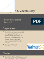 Chapter 6 Vocabulary PPT