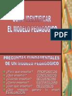 Presentación como identificar el modelo pedagog.