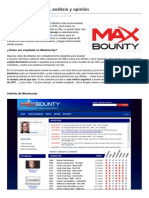 Redeseo.com- MAXBOUNTY Review Analisis y Opinion