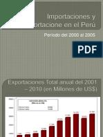 Importaciones y Exportacione en el Perú