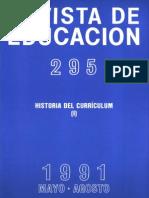 Re295 Historia Del Curriculum I