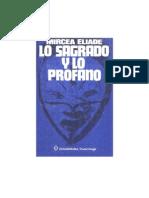 Mircea Eliade - Lo Sagrado y Lo Profano