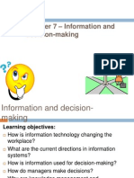Chapter 7 – Information and decision-making ppt