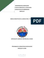 Didactica de La Lengua Oral y Escrita