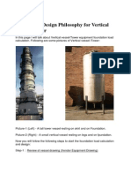 Foundation Design Philosophy for Vertical Vessel