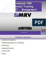 MRV Training - OS900 Management