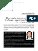 Jesús Lizcano - Eficiencia y Transparencia