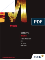 Music Specification