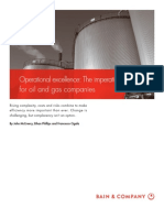BAIN BRIEF Operational Excellence the Imperative for Oil and Gas Companies