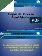 Etapas Del Proceso Administrativo Clase 1
