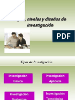 Tipos Niveles y Disenos Invest