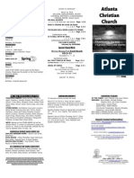 March 16, 2014 Trifold Bulletin