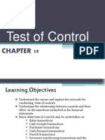 Chapter 19- Test of Control