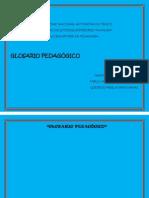 Glosario de pedagogía