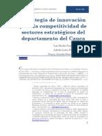 Estrategia de innovación para la competitividad de sectores estratégicos del departamento del Cauca
