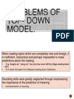 Problems of Top- Down Model