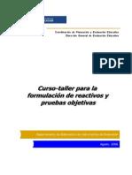 Taller Reactivos DGEE