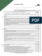 b2- Check List CEFR