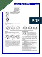 Casio qw4778 manual