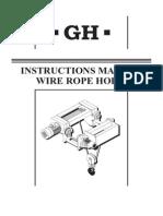 WireRopeHoist - InstructionManual