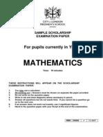 13 Maths Scholarship Sample Paper