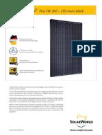 SunFields SolarWorld SW260 265 270 275 Mono Black En