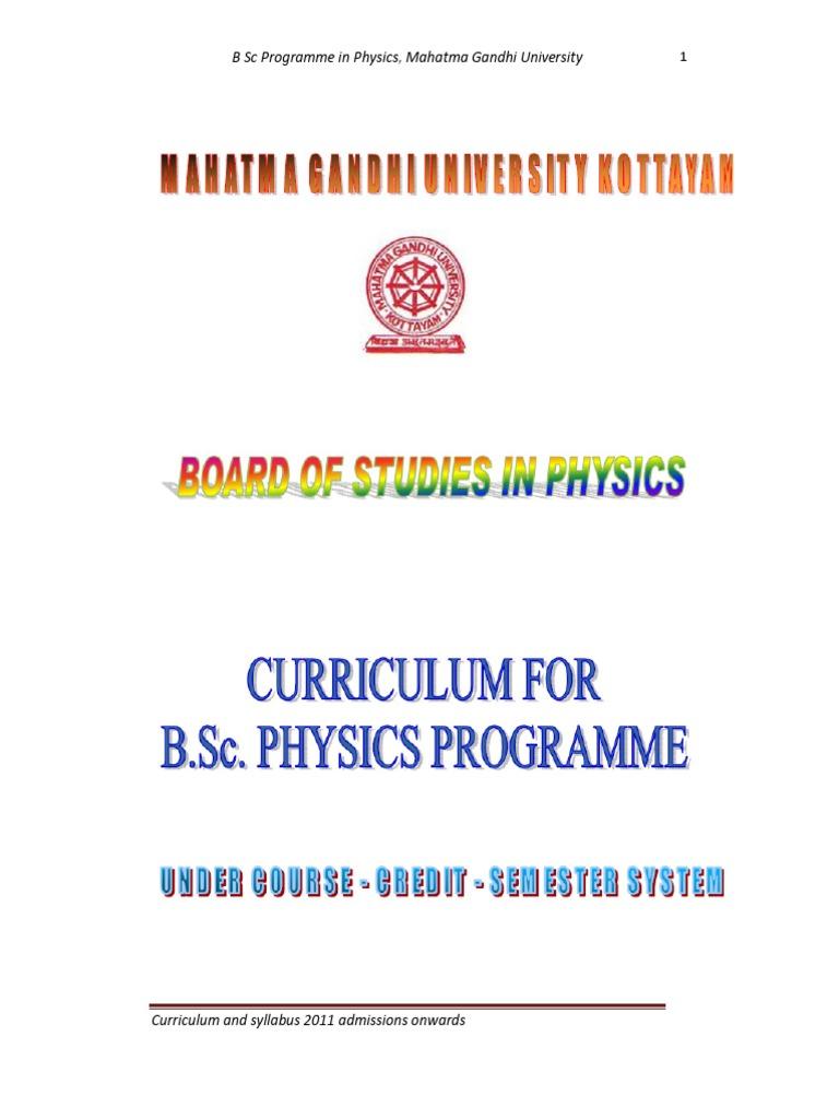 Mguniversity cbcss bscphysics syllabus 2011admission onwards mguniversity cbcss bscphysics syllabus 2011admission onwards physics mathematics physics fandeluxe Gallery