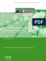 ICTSD Report on Biofuels Certification and WTO Compatibility