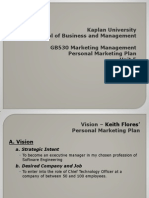 GB530 Personal Marketing Plan 1318405794