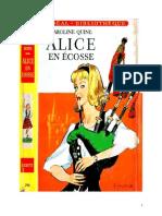 Caroline Quine Alice Roy 41 IB Alice en Ecosse 1964