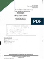 CSEC Maths January2006 Paper 2