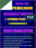 004 Pemilihan Alternatif Ekonomi ( Ekotek - Bab IV )