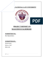 difference between defamation and malicious falsehood