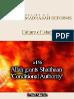 156 Allah Grants Shaithaan Conditional Authority