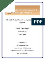 Fea Final Paper