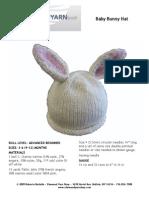Microsoft Word - Baby Bunny Hat