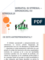 Antreprenoriatul Si Stresul- Factorii Psihosociali Ai Stresului