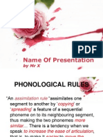 Session 5 - Phonological Rules