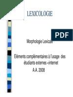 Cours de Lmnaouar Lexicologie