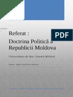 Referat Doctrina Politică a republicii Moldova