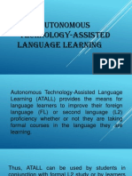 i  autonomous technology-assisted language learning-i