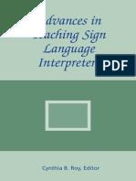 Hearing Impairment Advances in Teaching Sign Language Interpreters