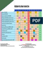 Jadwal Program Pelatihan Tahun 2014