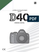 Instrucciones Nikon D40 Sp02