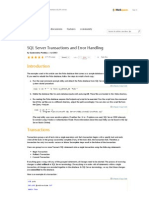 SQL Server Transactions and Error Handling