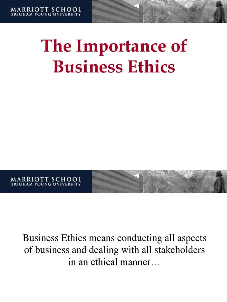 Importance Business Ethics I Business Ethics Investor