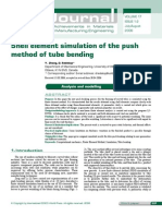 Shell element simulation of the push method of tube bending