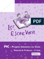 FDE - Ler e Escrever - PIC - 3ªsérie
