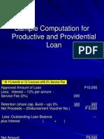 Loan Sample Computation