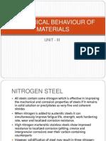 Behaviour of mechanical materials